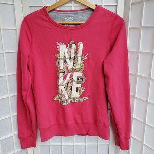Nike Pink Crewneck Sweatshirt Size M (T3)